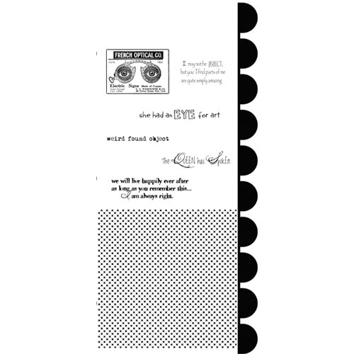 Stampers Anonymous - Studio 490 Collection - Cling Mounted Rubber Stamp Set - Optical Art
