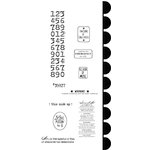 Stampers Anonymous - Studio 490 Collection - Cling Mounted Rubber Stamp Set - Label It Art