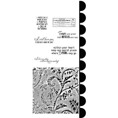 Stampers Anonymous - Studio 490 Collection - Cling Mounted Rubber Stamp Set - Sentimental Art