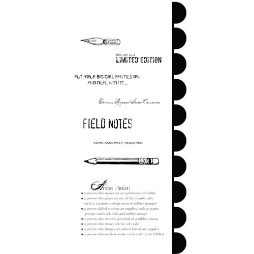 Stampers Anonymous - Studio 490 Collection - Cling Mounted Rubber Stamp Set - Speaking Of Art