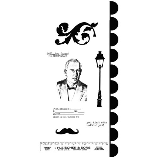 Stampers Anonymous - Studio 490 Collection - Cling Mounted Rubber Stamp Set - He Ruled It Art
