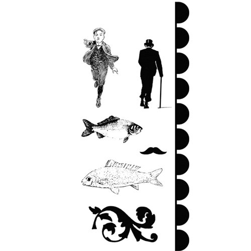 Stampers Anonymous - Studio 490 Collection - Cling Mounted Rubber Stamp Set - Art For Men