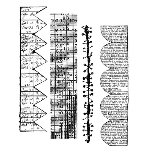 Stampers Anonymous - Tim Holtz - Cling Mounted Rubber Stamp Set - Classics 6