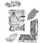 Stampers Anonymous - Tim Holtz - Cling Mounted Rubber Stamp Set - Classics 7