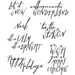 Stampers Anonymous - Tim Holtz - Cling Mounted Rubber Stamp Set - Handwritten Holidays 2