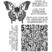Stampers Anonymous - Tim Holtz - Cling Mounted Rubber Stamp Set - Perspective