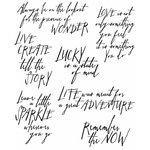 Stampers Anonymous - Tim Holtz - Cling Mounted Rubber Stamp Set - Handwritten Thoughts