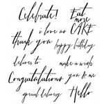 Stampers Anonymous - Tim Holtz - Cling Mounted Rubber Stamp Set - Handwritten Sentiments