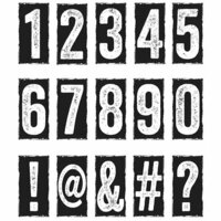 Stampers Anonymous - Tim Holtz - Cling Mounted Rubber Stamp Set - Number Blocks