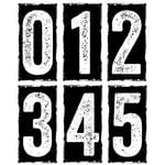 Stampers Anonymous - Tim Holtz - Cling Mounted Rubber Stamp Set - Big Number Blocks