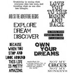 Stampers Anonymous - Tim Holtz - Cling Mounted Rubber Stamp Set - Life Quotes