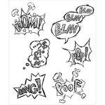 Stampers Anonymous - Tim Holtz - Cling Mounted Rubber Stamp Set - Crazy Thoughts