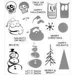 Stampers Anonymous - Christmas - Tim Holtz - Cling Mounted Rubber Stamp Set - Mini Halftones