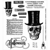 Stampers Anonymous - Halloween - Tim Holtz - Cling Mounted Rubber Stamp Set - Undertaker