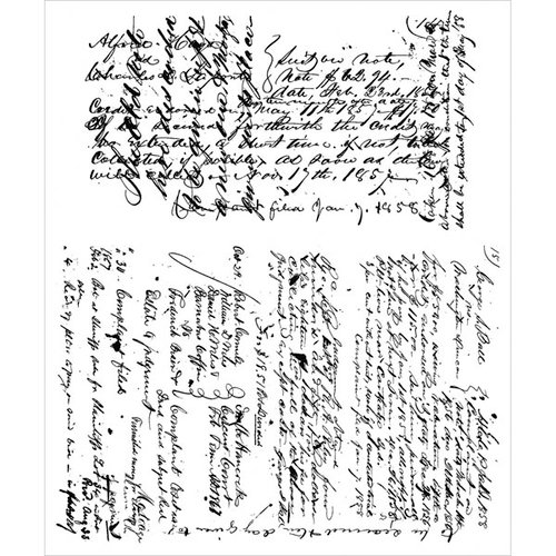 Stampers Anonymous - Tim Holtz - Cling Mounted Rubber Stamp Set - Ledger Script