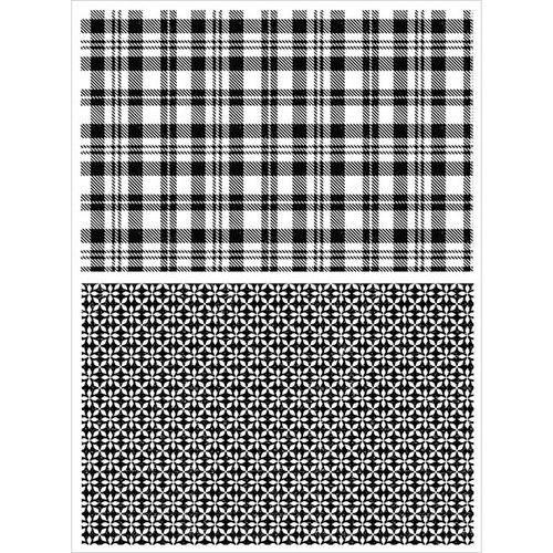 Stampers Anonymous - Tim Holtz - Cling Mounted Rubber Stamp Set - Plaid and Nordic