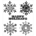 Stampers Anonymous - Christmas - Tim Holtz - Cling Mounted Rubber Stamp Set - Weathered Winter