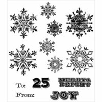 Stampers Anonymous - Christmas - Tim Holtz - Cling Mounted Rubber Stamp Set - Mini Weathered Winter