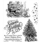 Stampers Anonymous - Tim Holtz - Cling Mounted Rubber Stamp Set - Christmas Magic