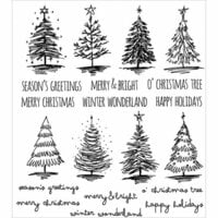 Stampers Anonymous - Tim Holtz - Cling Mounted Rubber Stamp Set - Scribbly Christmas