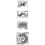 Stampers Anonymous - Tim Holtz - Cling Mounted Rubber Stamp Set - Mini Blueprint Strip - Ringmaster
