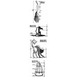 Stampers Anonymous - Tim Holtz - Cling Mounted Rubber Stamp Set - Mini Blueprint Strip - Halloween 3