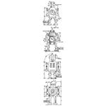 Stampers Anonymous - Tim Holtz - Cling Mounted Rubber Stamp Set - Mini Blueprint Strip - Robot