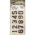 Stampers Anonymous - Tim Holtz - Layering Stencil - Numbered