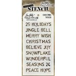 Stampers Anonymous - Tim Holtz - Layering Stencil - Christmas