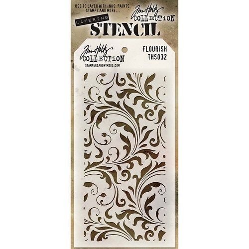 Stampers Anonymous - Tim Holtz - Layering Stencil - Flourish