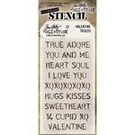 Stampers Anonymous - Tim Holtz - Layering Stencil - Valentine