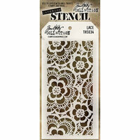 Stampers Anonymous - Tim Holtz - Layering Stencil - Lace