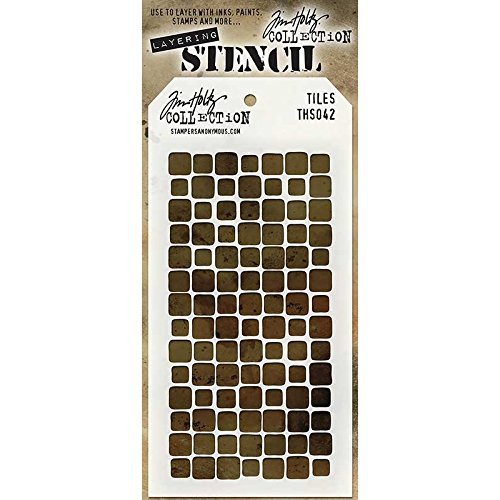 Stampers Anonymous - Tim Holtz - Layering Stencil - Tiles