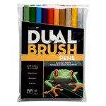 Tombow - Dual Brush Pen - 10 Color Set - Secondary