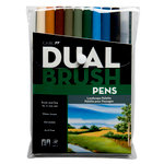 Tombow - Dual Brush Pen - 10 Color Set - Landscape