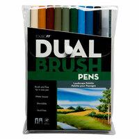 Tombow - Dual Brush Pen - 10 Color Set - Landscape