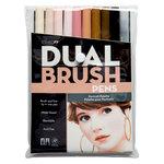 Tombow - Dual Brush Pen - 10 Color Set - Portrait