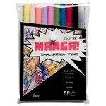 Tombow - Dual Brush Pen - 10 Color Set - Manga Shojo
