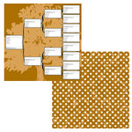 Teresa Collins - Family Matters Collection -  12 x 12 Double Sided Paper - Family Connections, CLEARANCE
