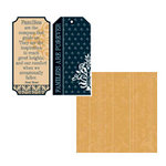 Teresa Collins - Family Matters Collection -  8 x 8 Double Sided Paper - Family Tags