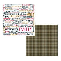 Teresa Collins - Family Matters Collection -  8 x 8 Double Sided Paper - Family Life, CLEARANCE