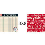Teresa Collins - Tis the Season Christmas Collection - 8 x 8 Double Sided Paper - Remember