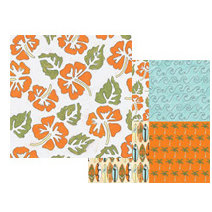 Teresa Collins - Boardwalk Collection - 12x12 Double Sided Paper - Hibiscus, CLEARANCE