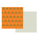 Teresa Collins - Boardwalk Collection - 12x12 Double Sided Paper - Palm Trees, CLEARANCE