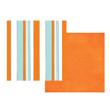 Teresa Collins - Boardwalk Collection - 12x12 Double Sided Paper - Beach Towel, CLEARANCE