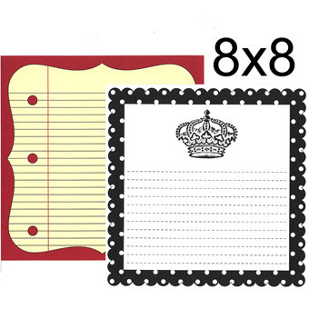 Teresa Collins - Journal It Collection - 8 x 8 Double Sided Paper - Crown Notes