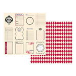 Teresa Collins - Journal-It Collection - 12x12 Double Sided Paper - Tags and Diamonds
