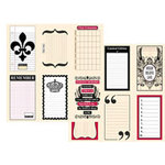 Teresa Collins - Journal-It Collection - 12x12 Double Sided Paper - Tags, CLEARANCE