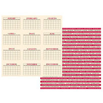 Teresa Collins - Journal-It Collection - 12x12 Double Sided Paper - Calendar Time , CLEARANCE
