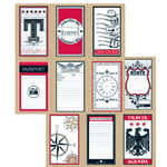 Teresa Collins - Travelogue - 12x12 Double Sided Paper - Travel Tags, CLEARANCE